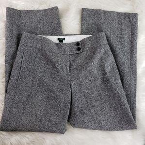 J. Crew gray wool wide leg flare work pant sz 6